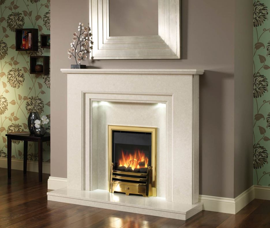 marble fire surrounds photo - 3