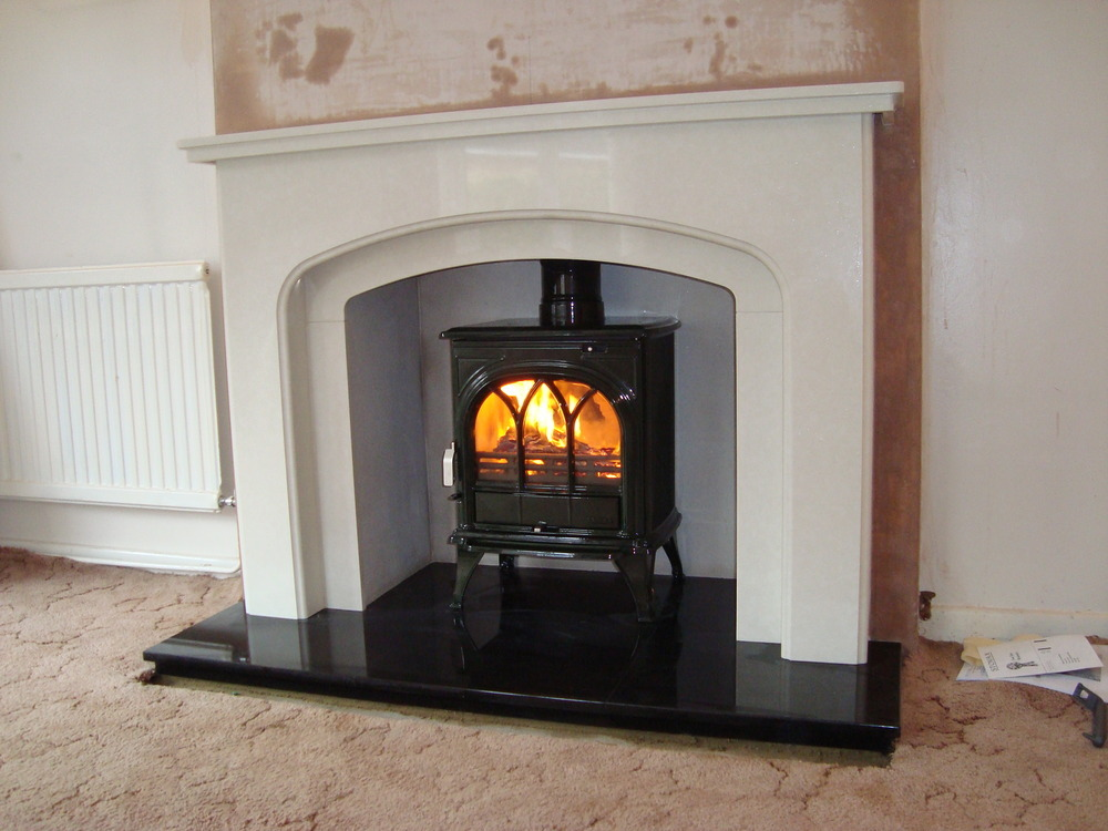 marble fire surrounds for wood burners photo - 2