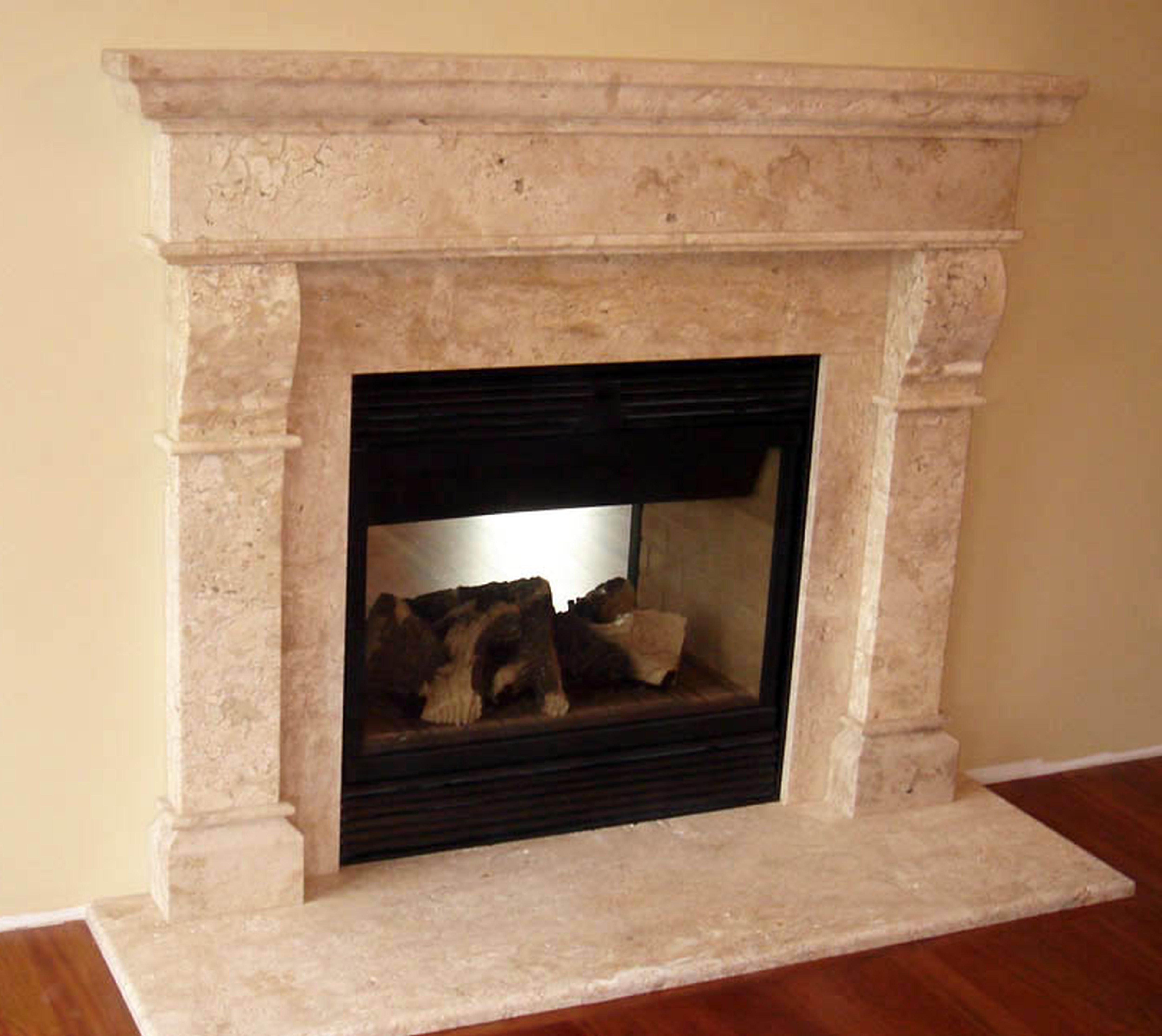 marble fireplace surround ideas photo - 2