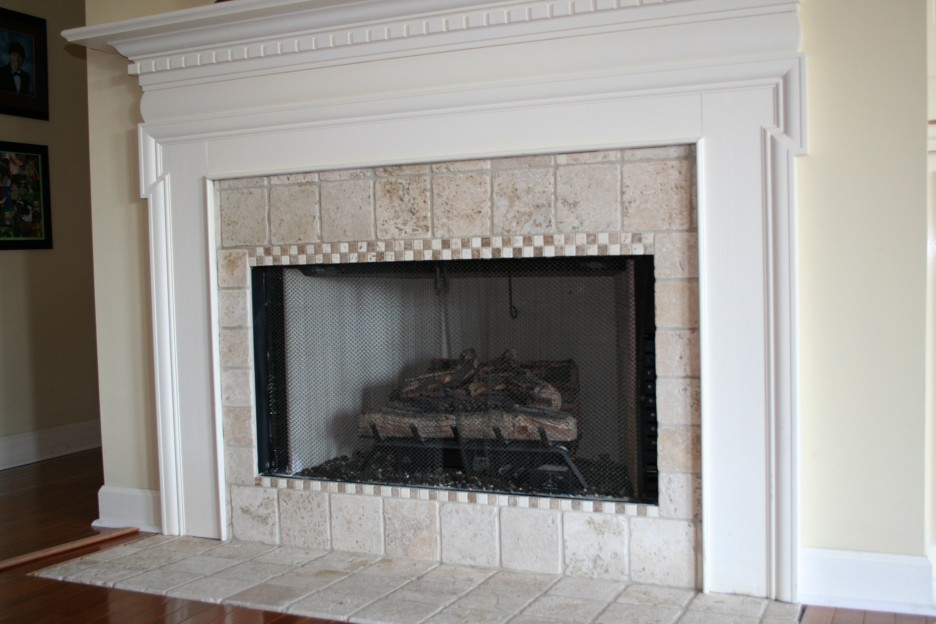 marble fireplace surround ideas photo - 3