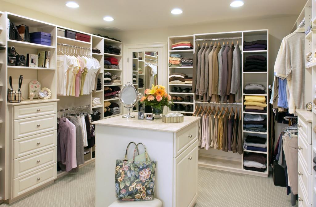 master walk in closet design photo - 7