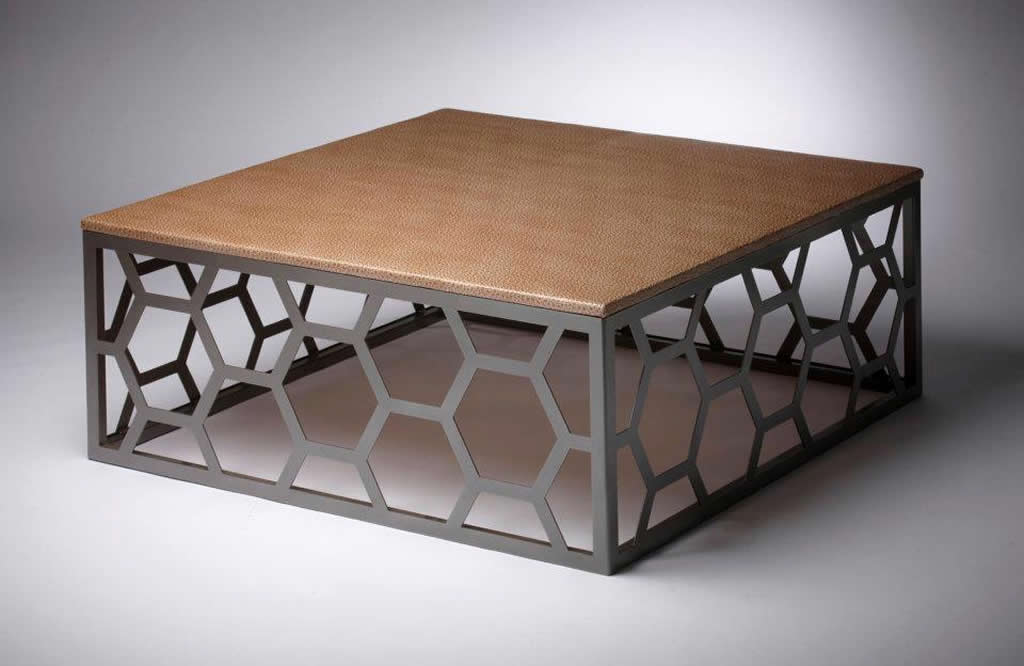 metal coffee table design photo - 1