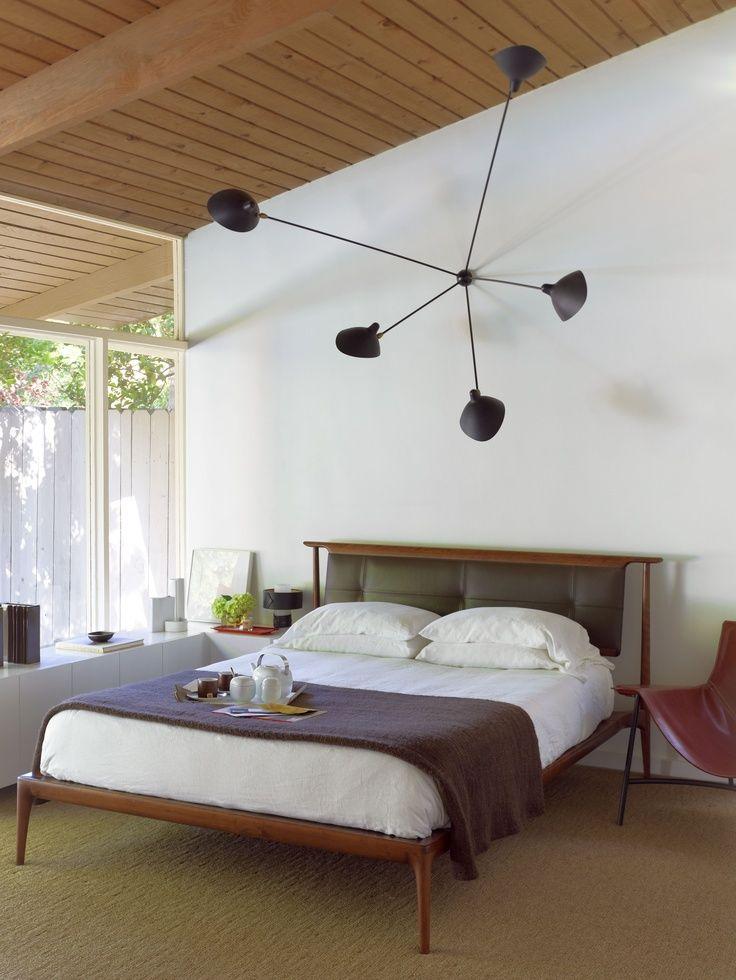 mid century modern bedroom lighting photo - 7