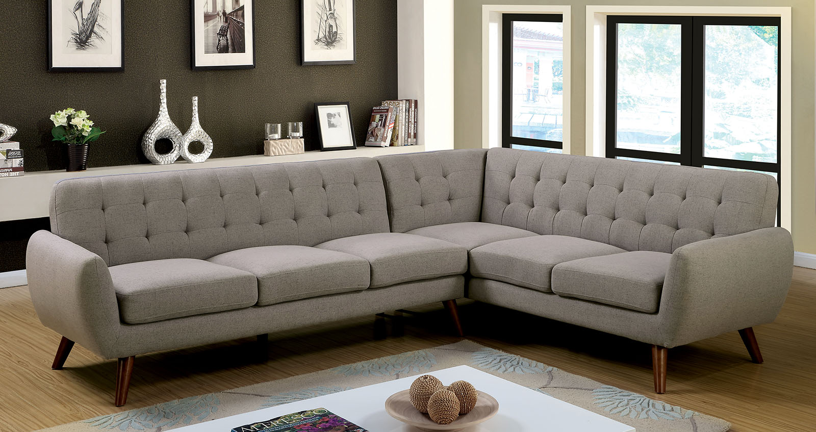 mid century modern sectional sofas photo - 10