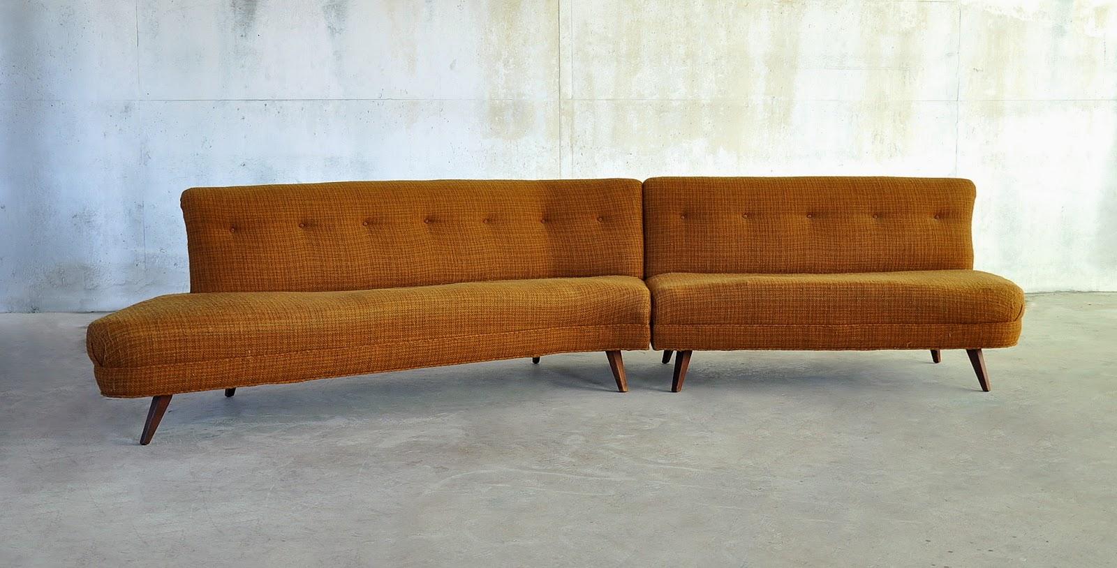 mid century modern sectional sofas photo - 2