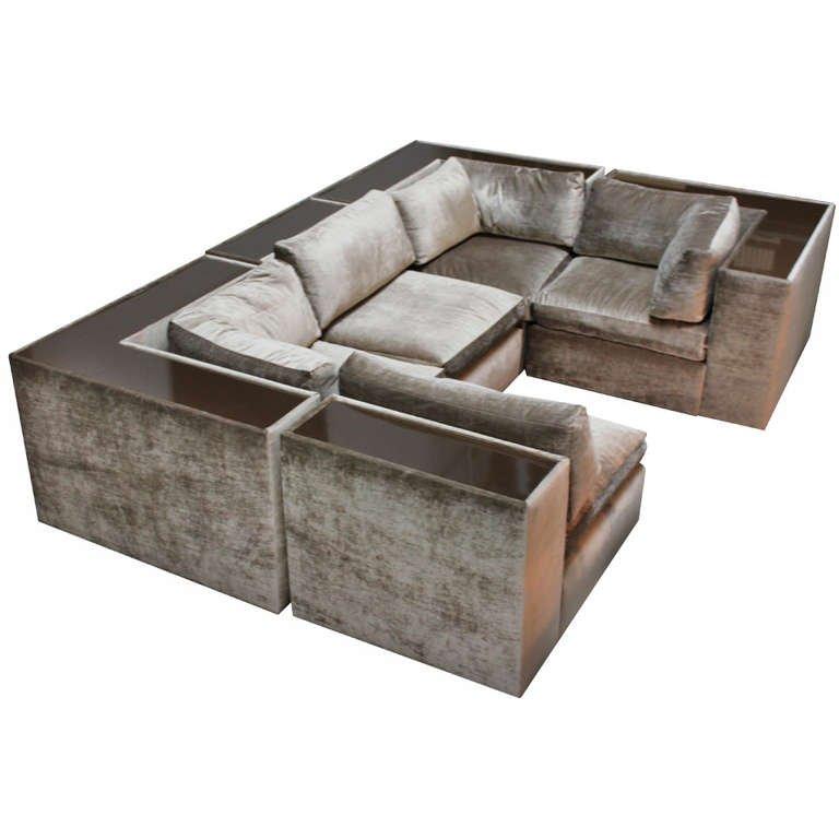 mid century modern sectional sofas photo - 5