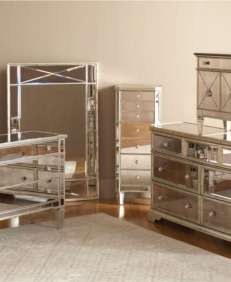 mirrored bedroom furniture set photo - 1
