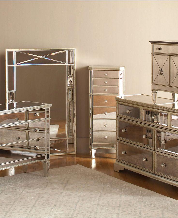 mirrored bedroom furniture set photo - 1