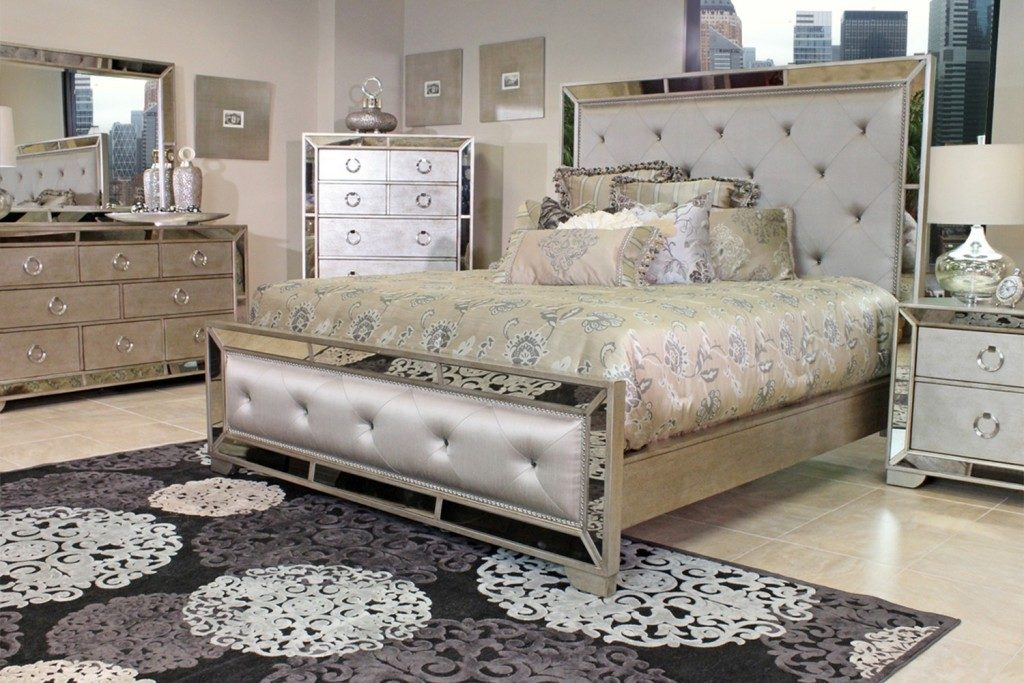 mirrored bedroom furniture set photo - 6