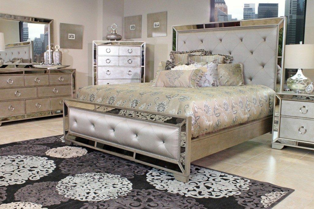 mirrored bedroom furniture set photo - 6