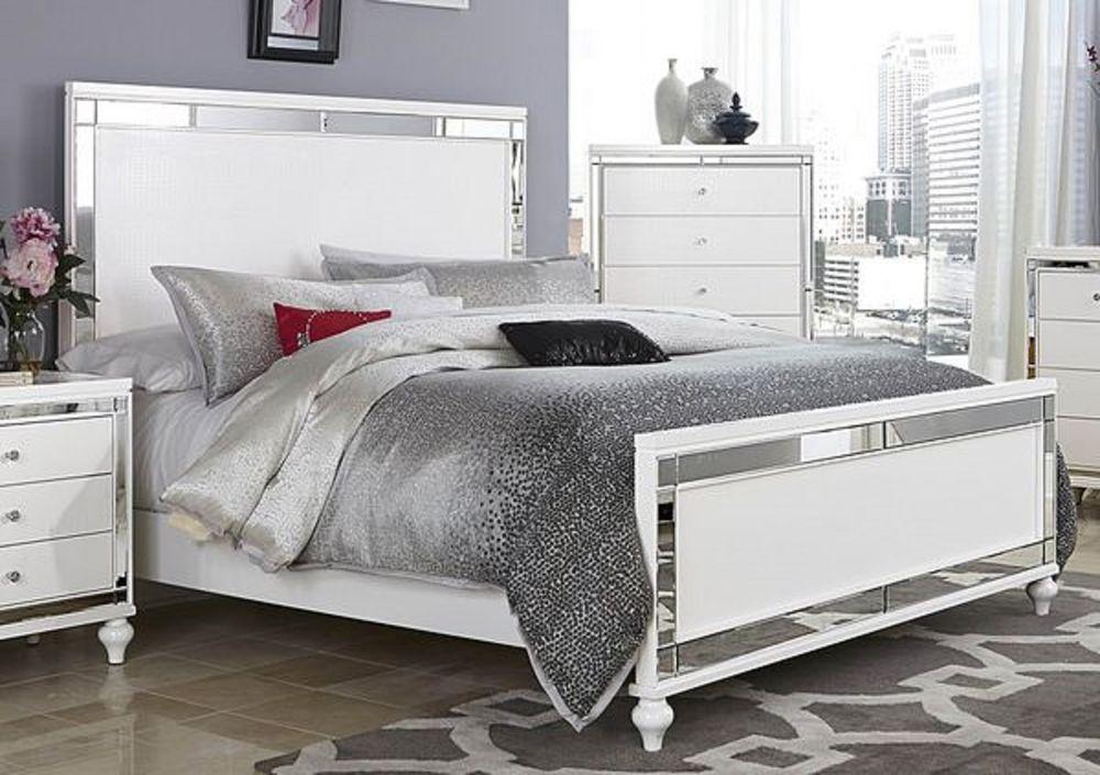 mirrored bedroom furniture set photo - 8