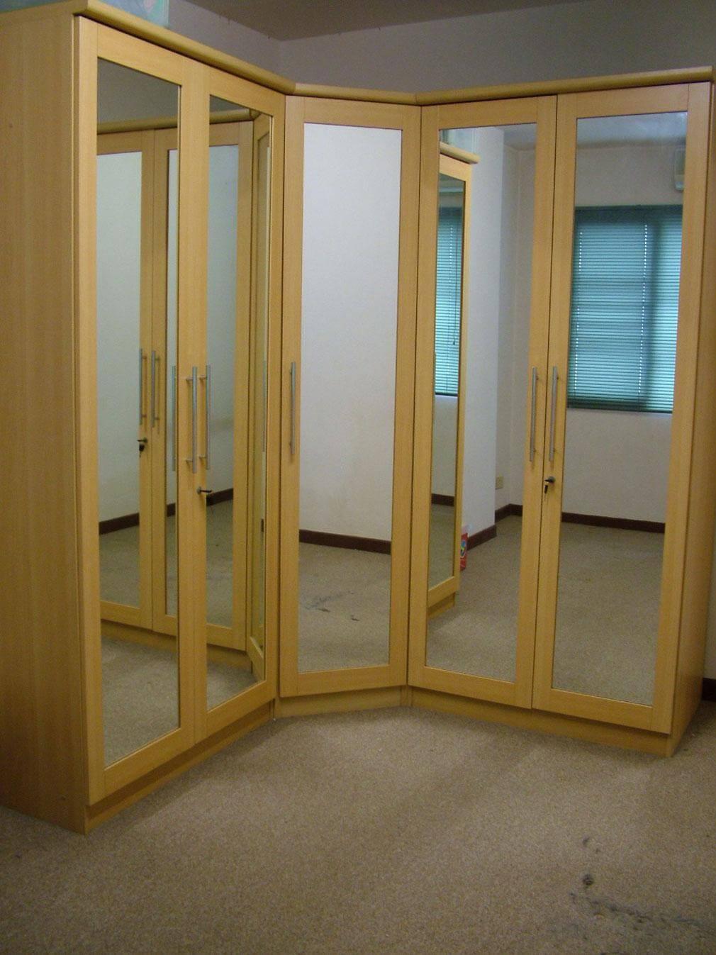 mirrored closet doors frameless photo - 1