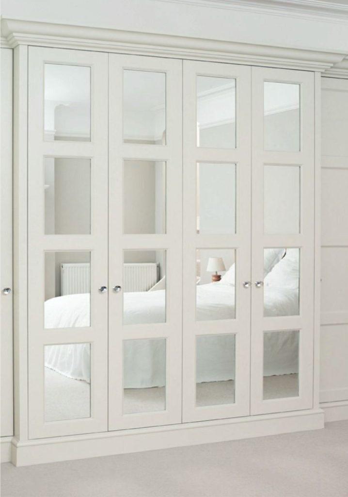 mirrored closet doors frameless photo - 2