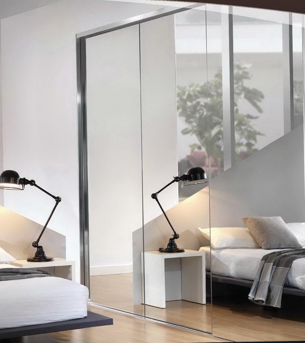 Mirrored Closet Doors Frameless Photo   3