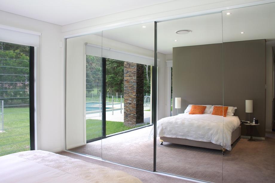 mirrored closet doors frameless photo - 5