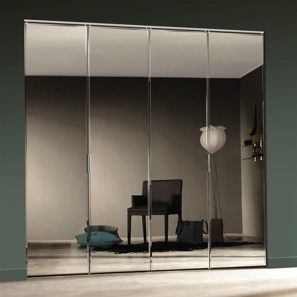 mirrored closet doors frameless photo - 7