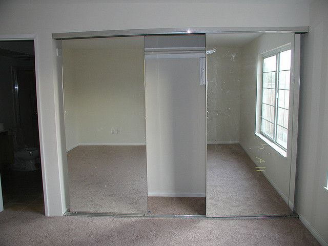 mirrored closet doors frameless photo - 9