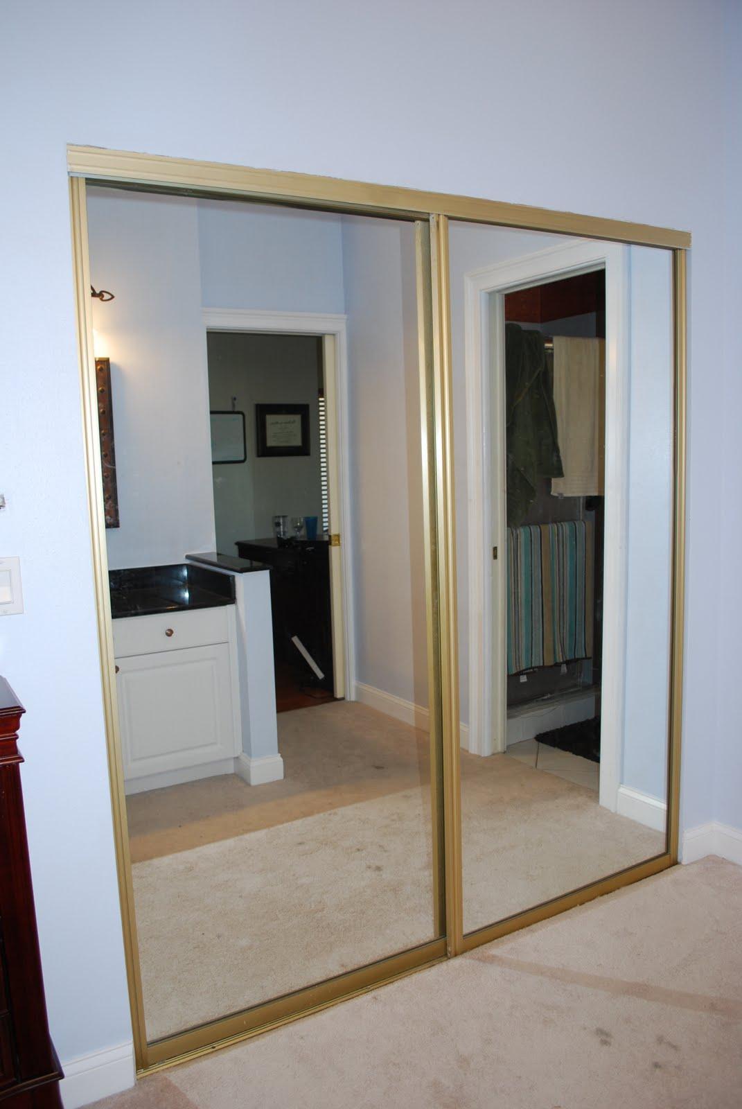 Mirrored Closet Doors Makeover Photo   2