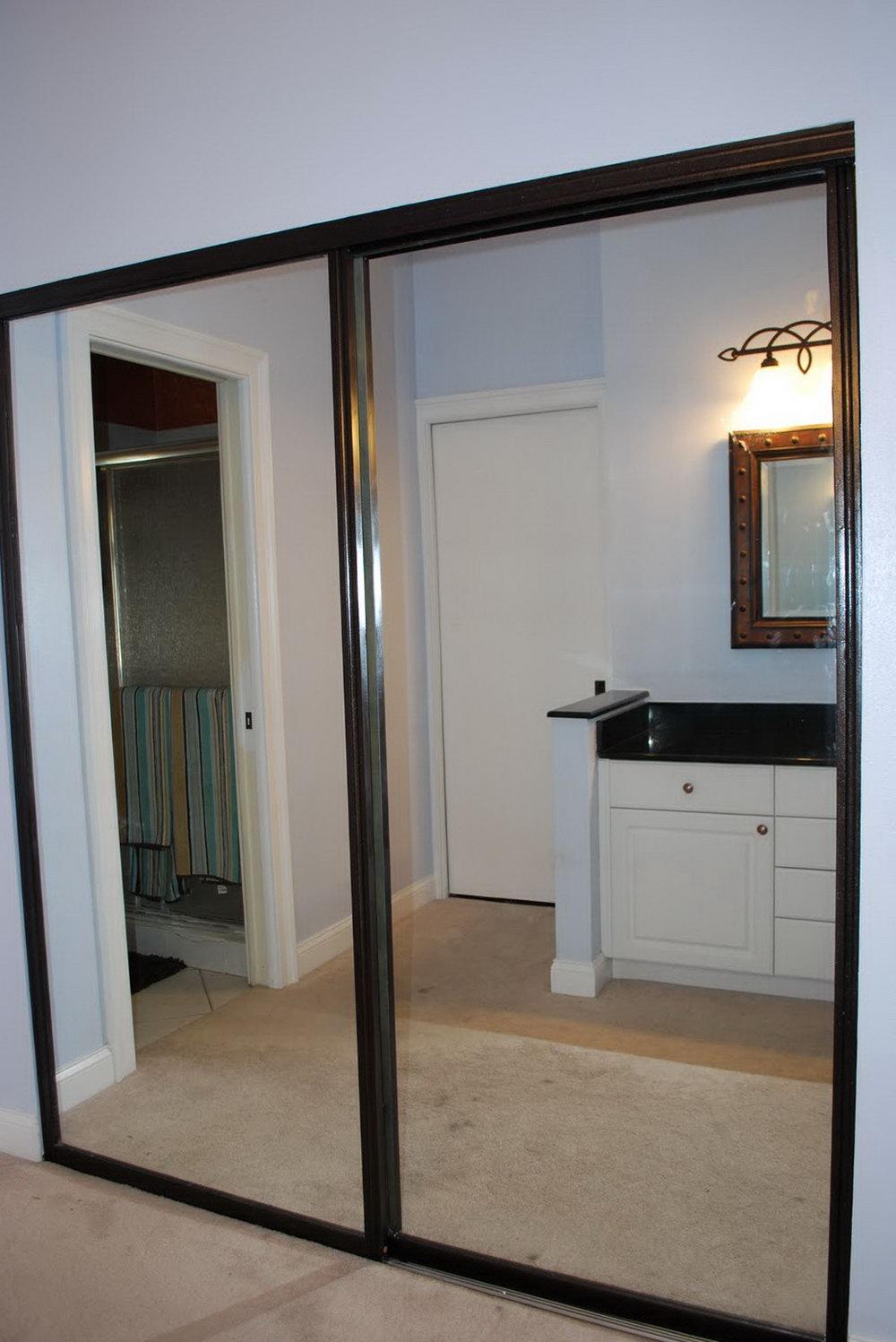 mirrored closet doors menards photo - 1