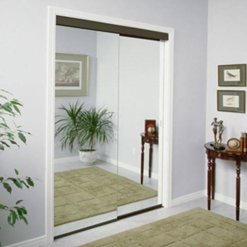 mirrored closet doors menards photo - 2