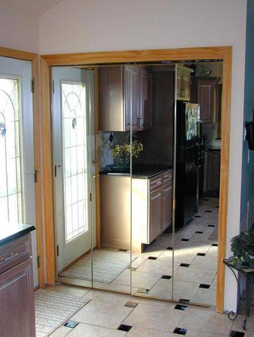 mirrored closet doors menards photo - 5