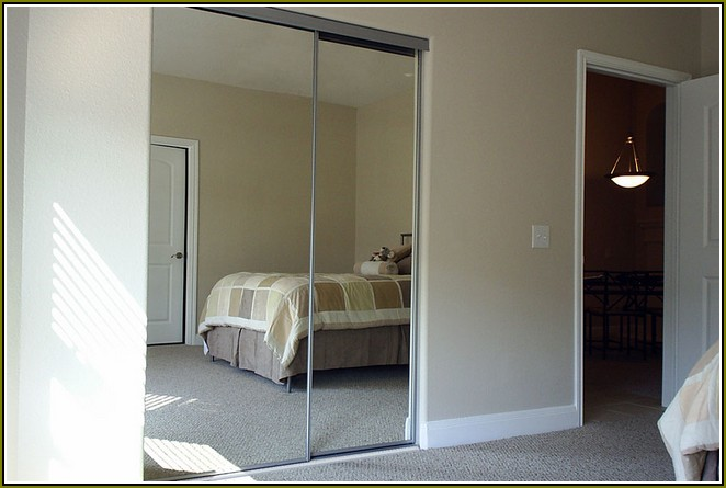 mirrored closet doors menards photo - 7