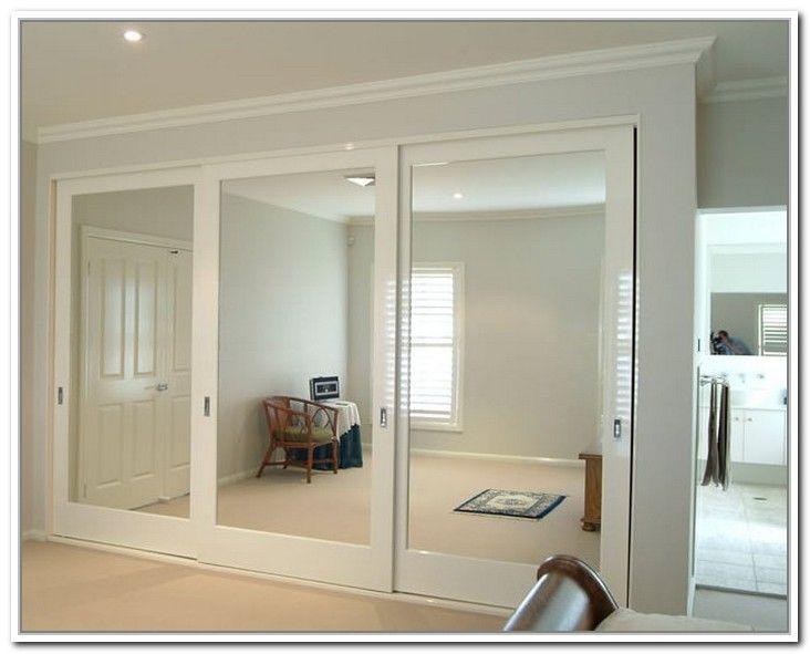 mirrored closet doors sliding photo - 2