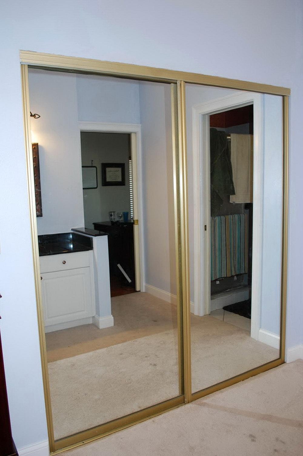 mirrored closet doors sliding photo - 5