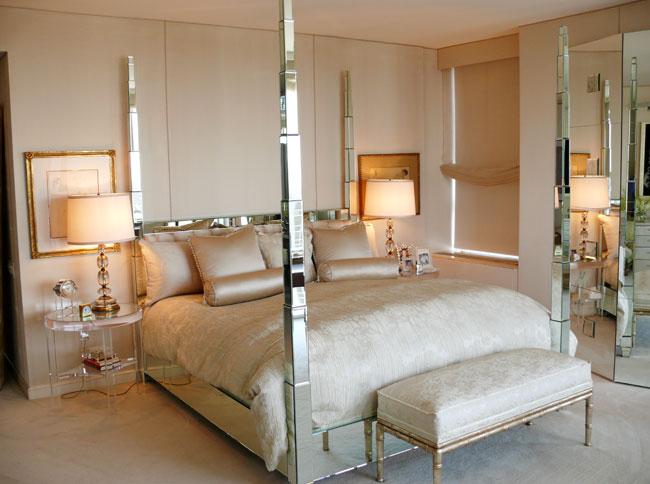mirrored furniture bedroom designs photo - 10