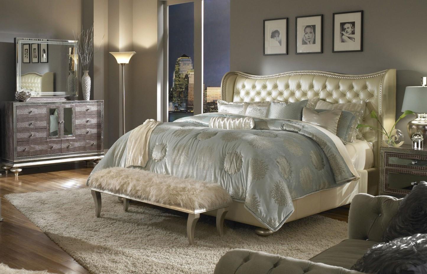 mirrored furniture bedroom designs photo - 4