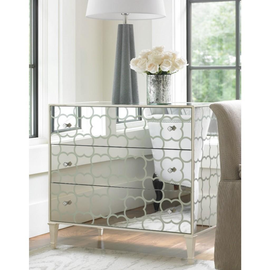 mirrored furniture bedroom designs photo - 5