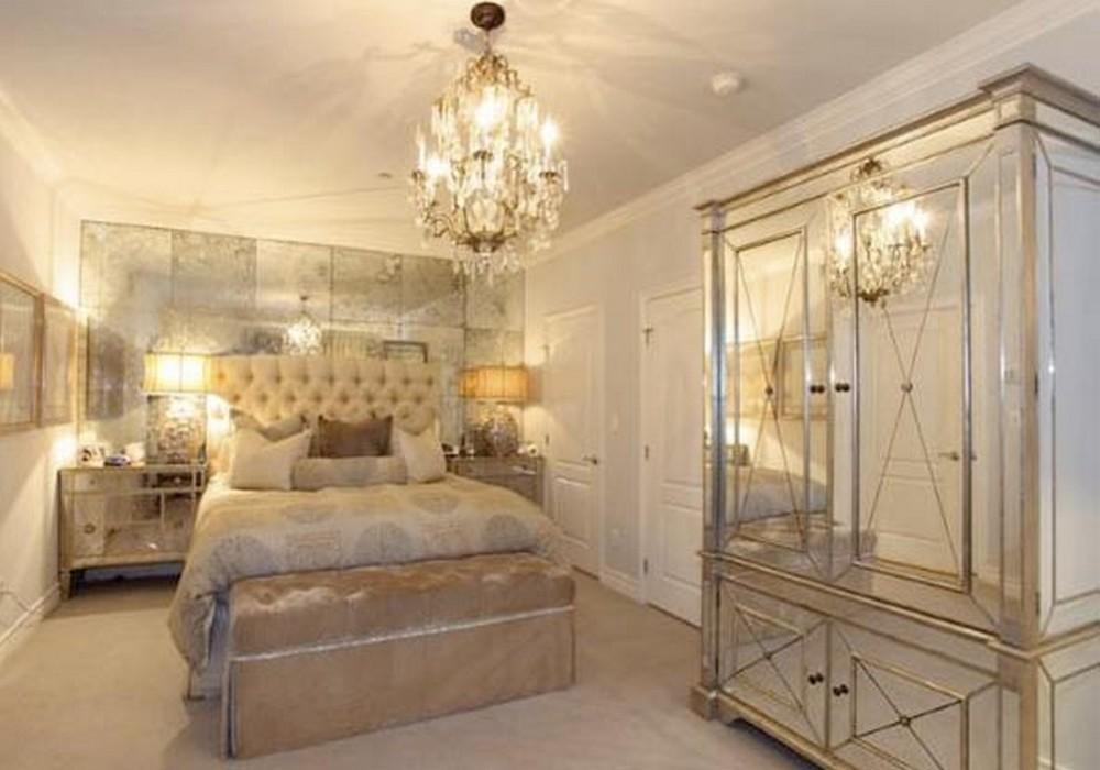 mirrored furniture bedroom designs photo - 7