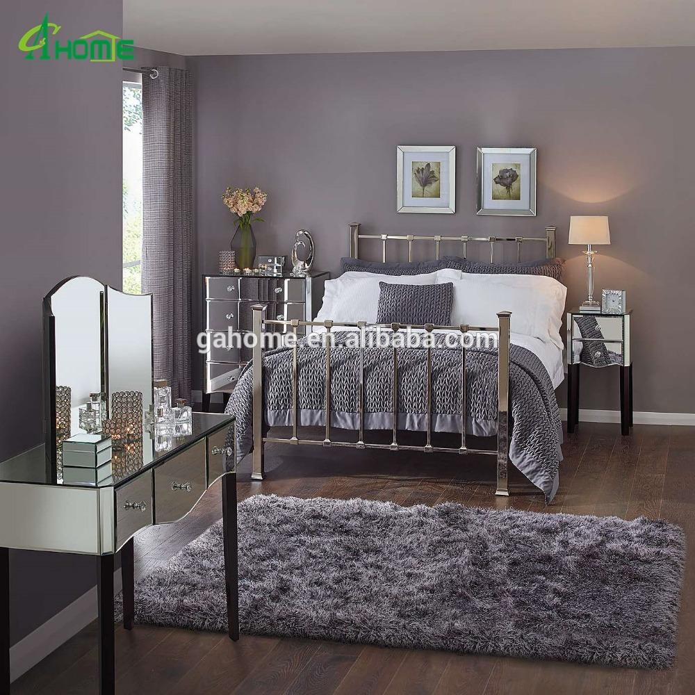 mirrored furniture bedroom designs photo - 8