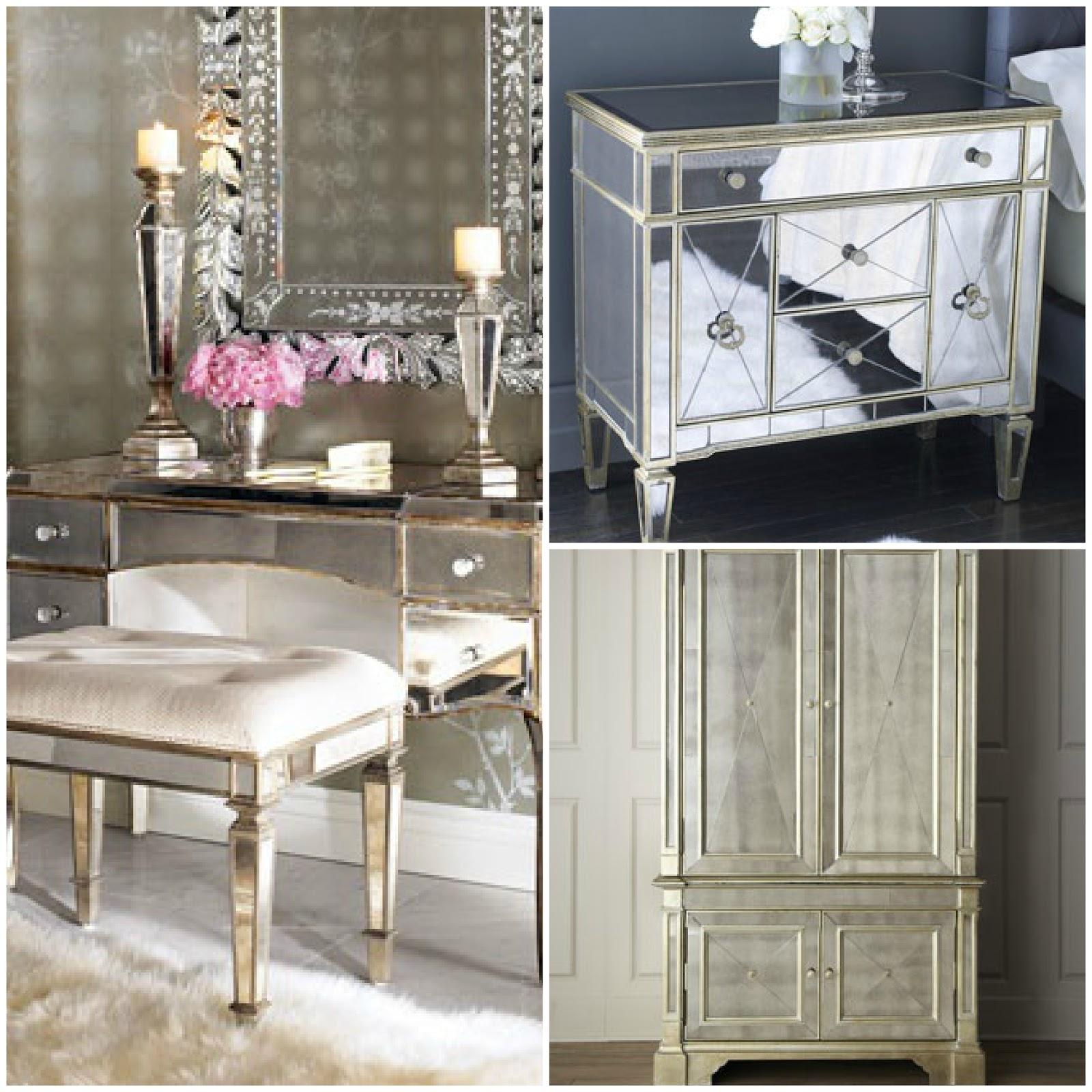 mirrored furniture bedroom designs photo - 9