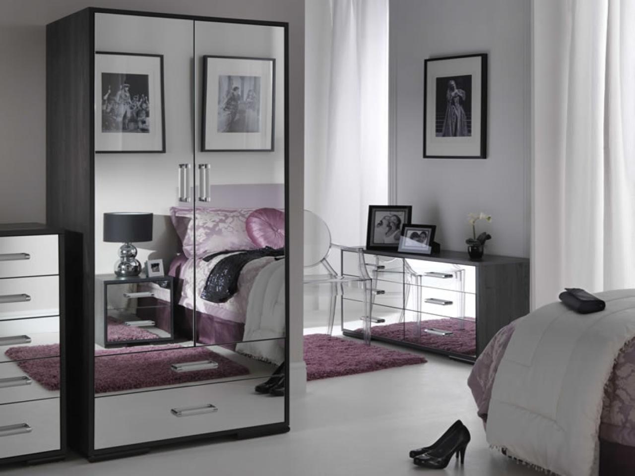 mirrored furniture bedroom set photo - 4