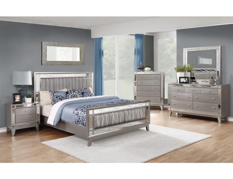 mirrored furniture bedroom set photo - 5