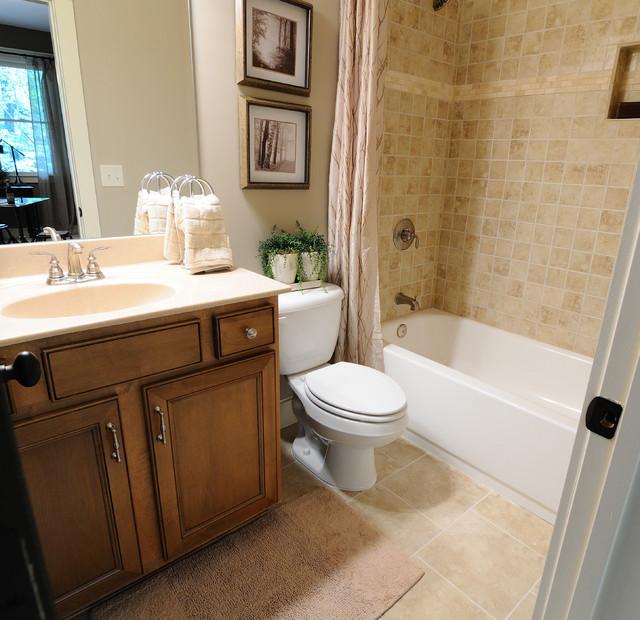 model home bathroom decor photo - 1