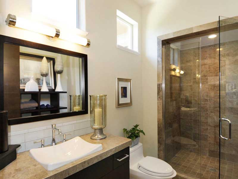 model home bathroom decor photo - 5