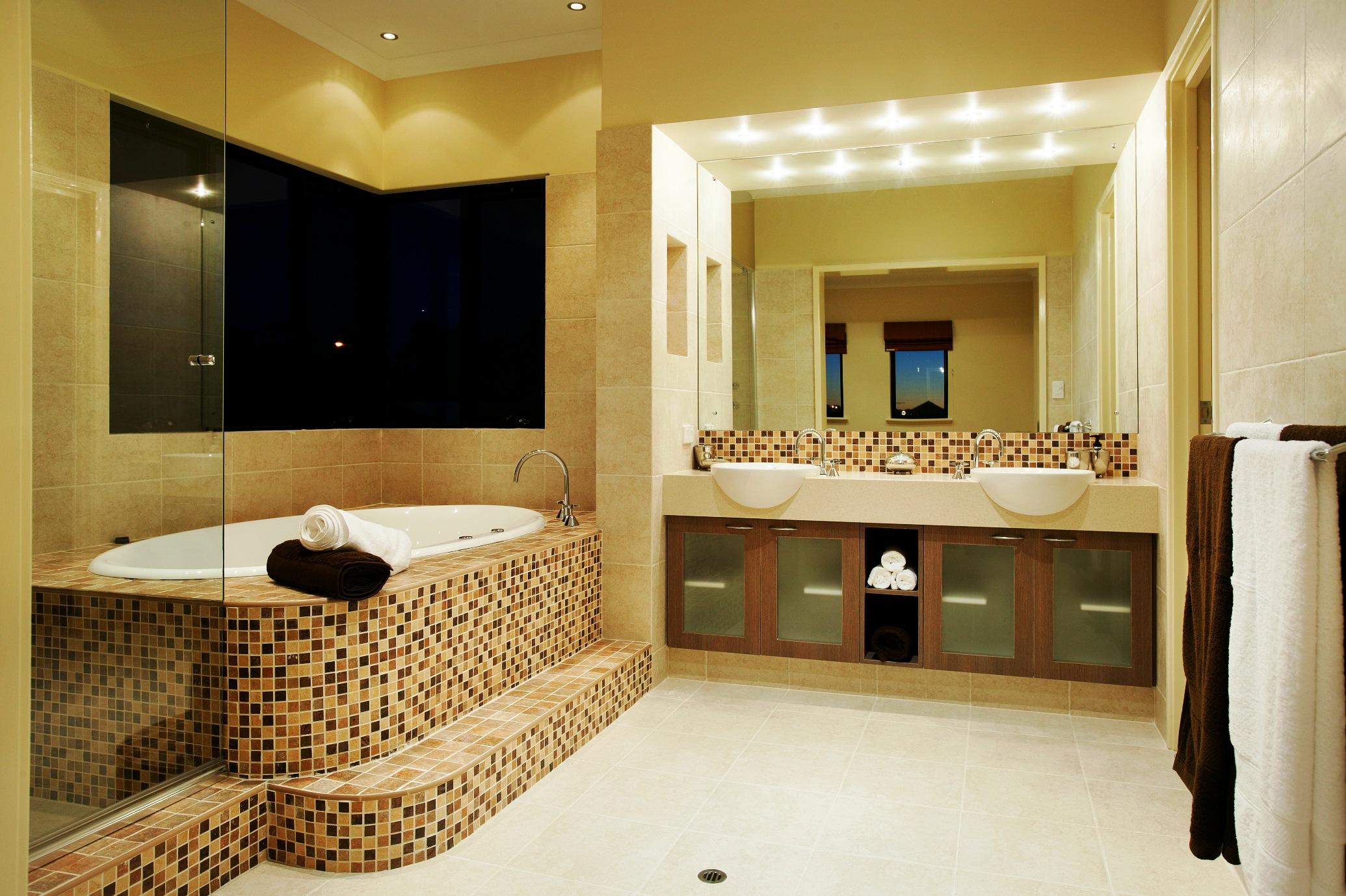 model home bathroom decor photo - 6