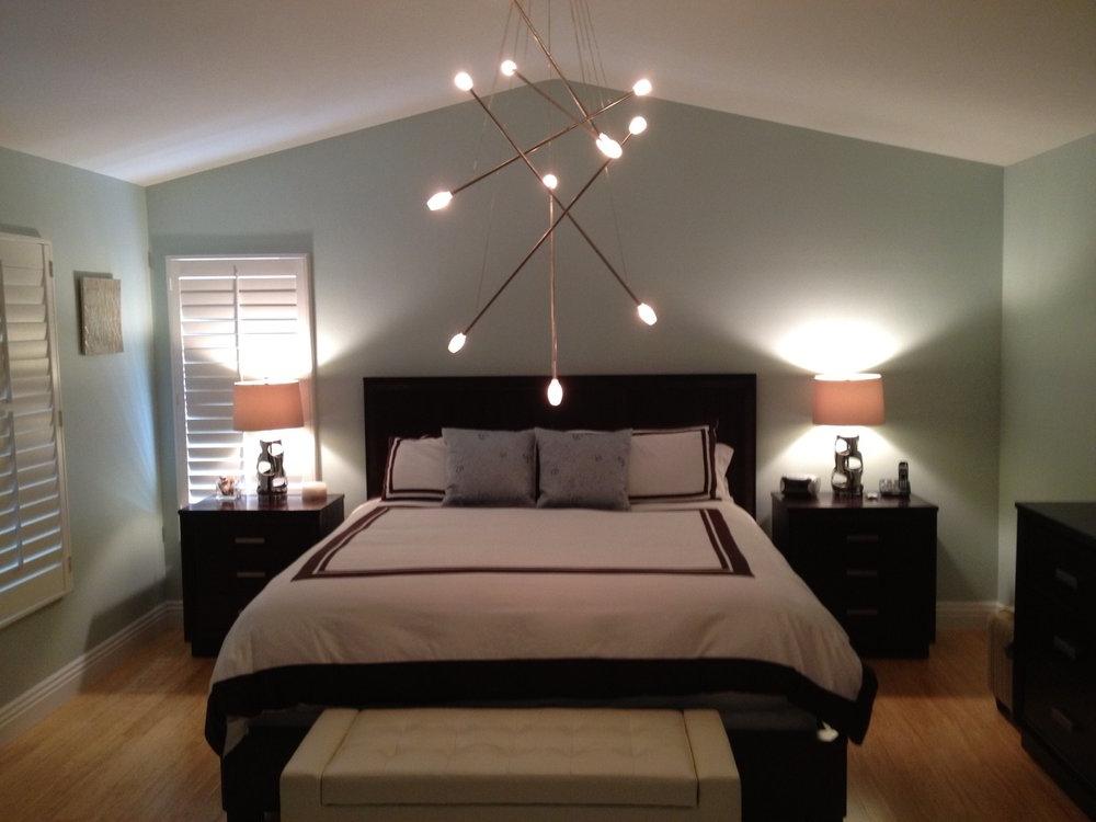modern bedroom lighting photo - 9