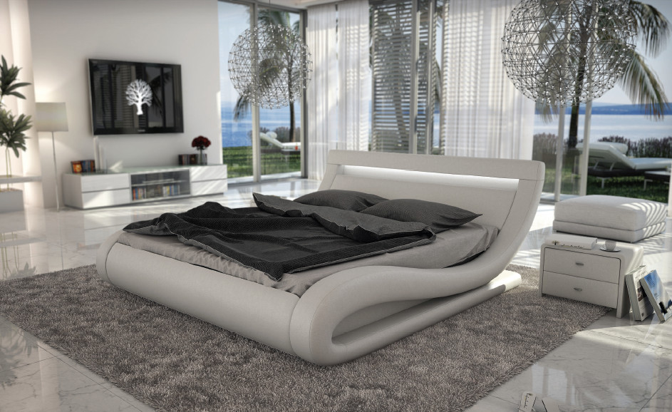 modern bedroom sets with lights photo - 3