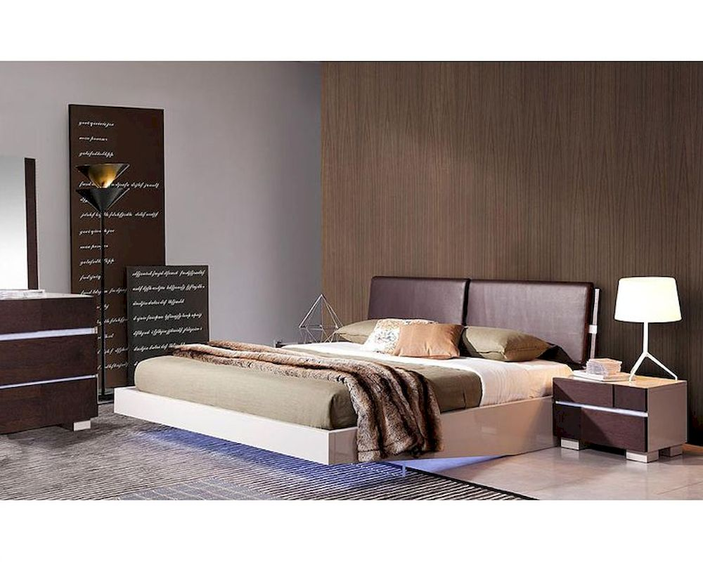 modern bedroom sets with lights photo - 6