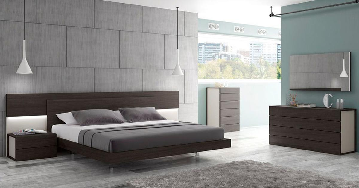 modern bedroom sets with lights photo - 7