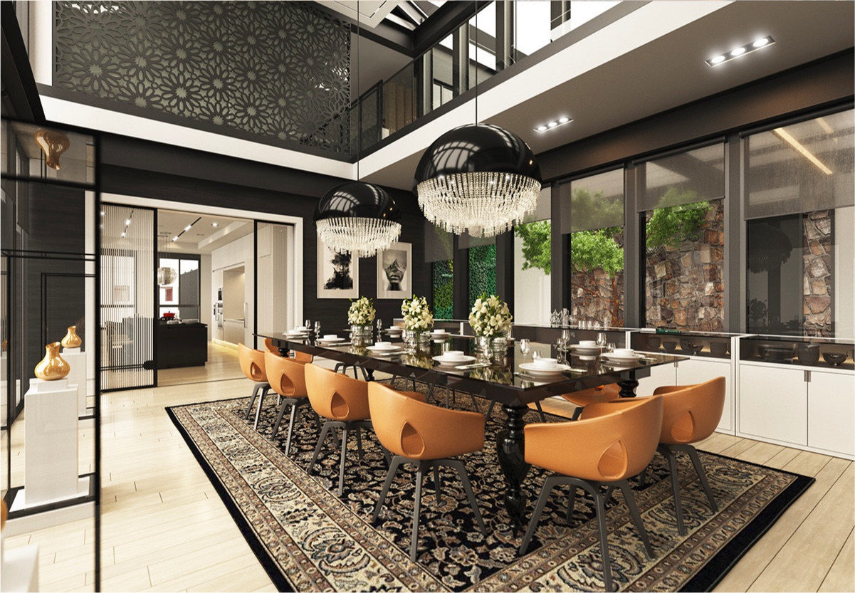 modern classic dining room photo - 3