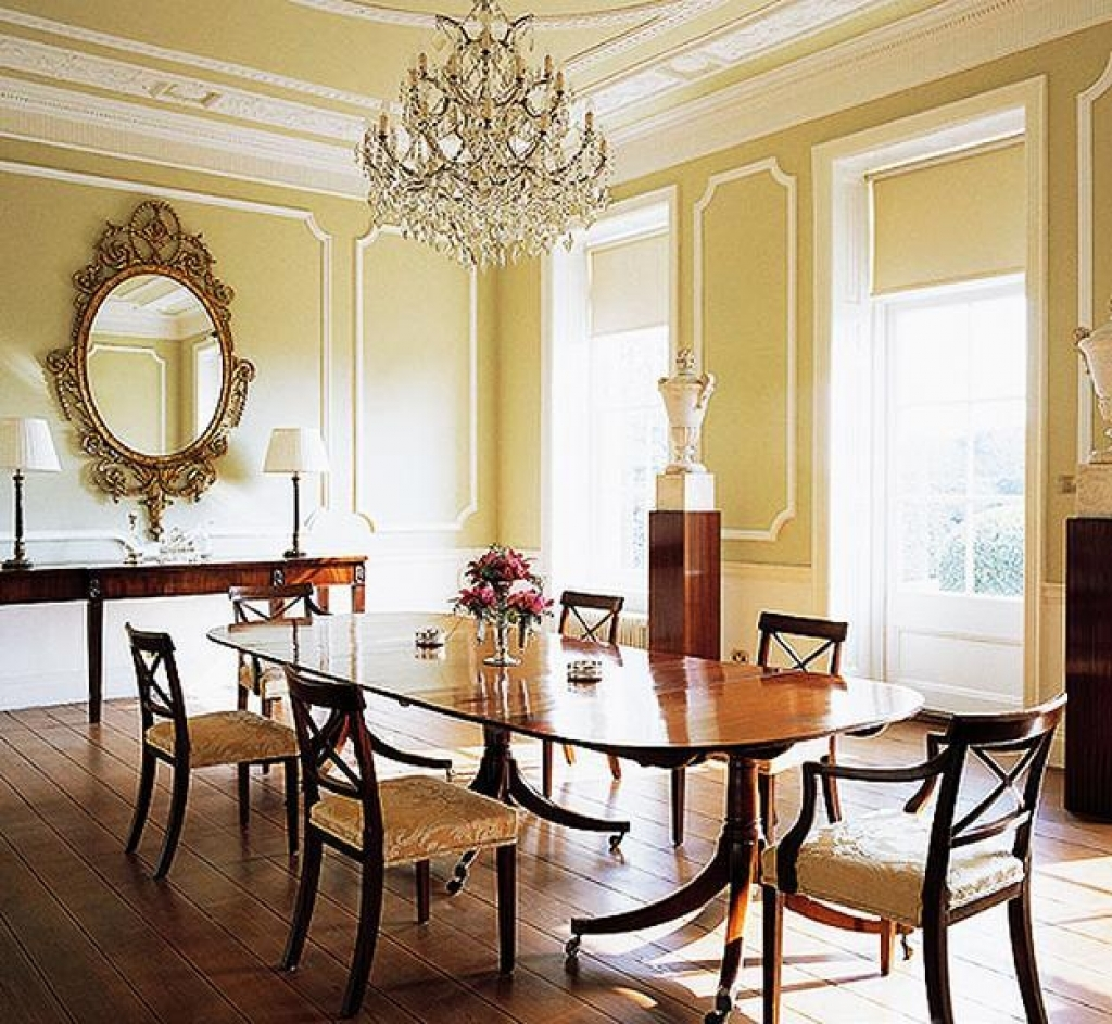modern classic dining room photo - 6