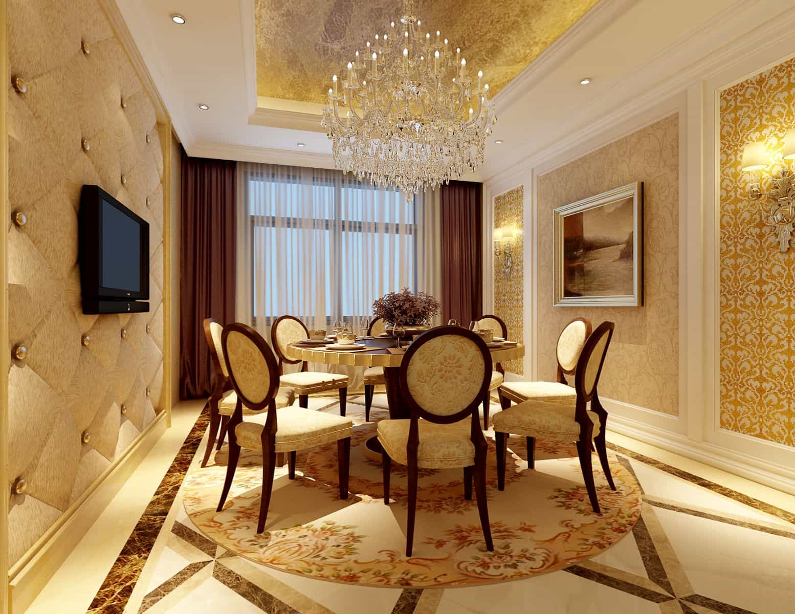 modern classic dining room photo - 9