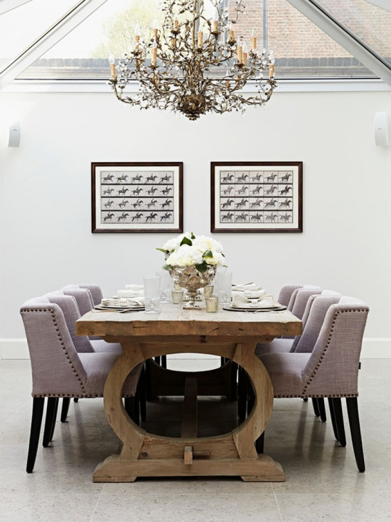 modern classic dining table photo - 9