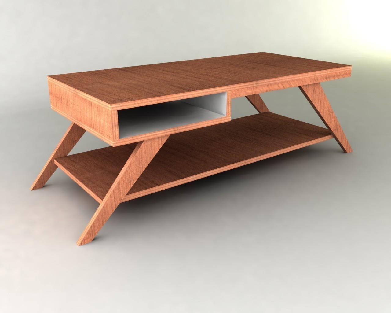 modern coffee table design plans photo - 1