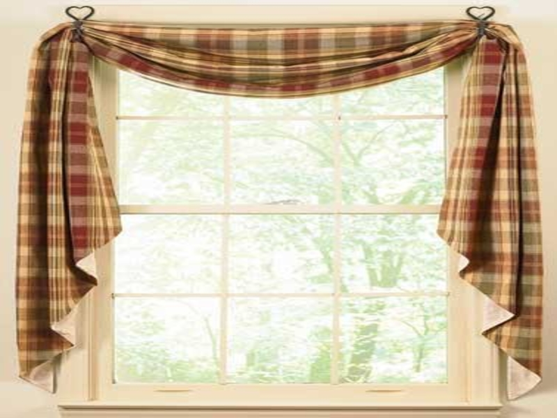 modern country kitchen curtains photo - 3