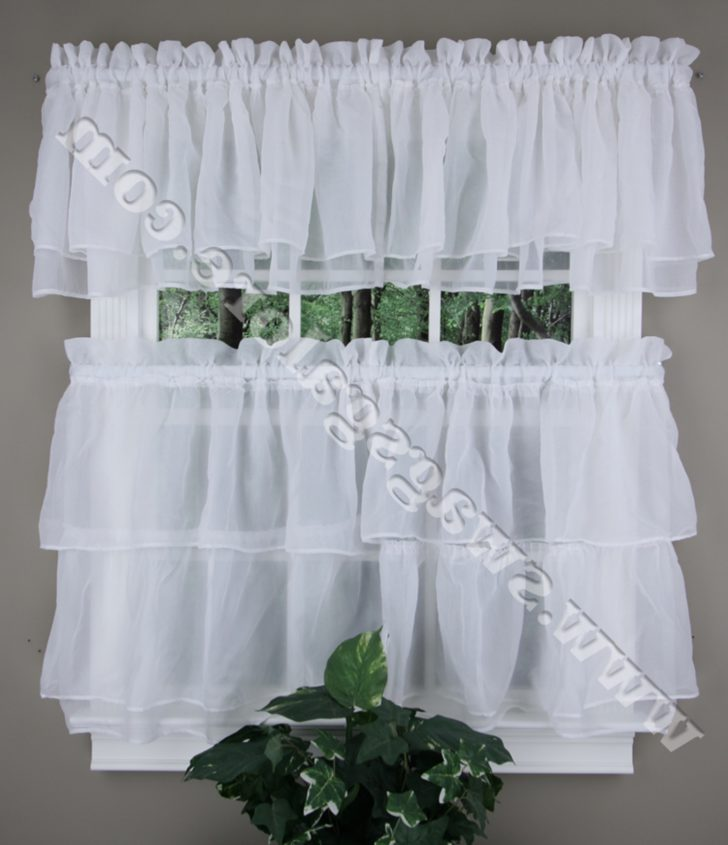 modern country kitchen curtains photo - 4